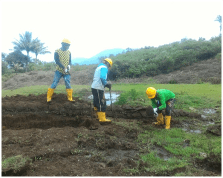 Agriculture demonstration plot, Preparation